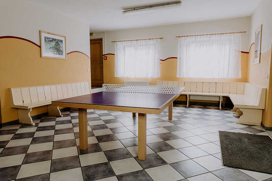 Tischtennisraum Jugendherberge - Jugendhaus Sonnegg