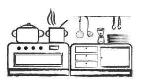 Küche für Selbstversorger im Jugendhaus Sonnegg