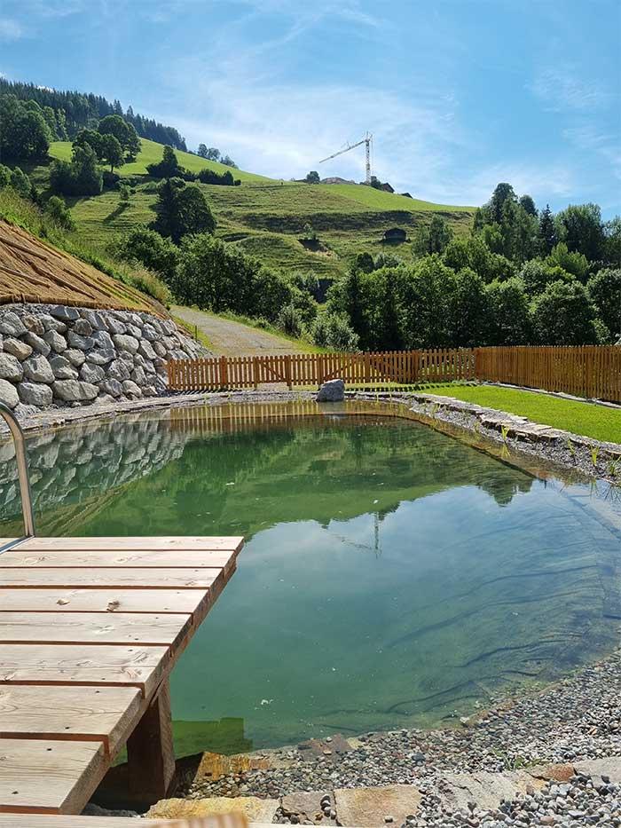 Schwimmteich - BAdeteich Jugendpension Sonnegg